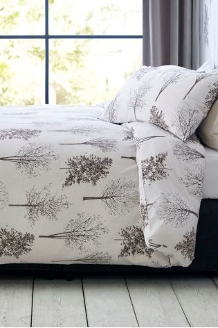 Could Winter Nights Look Any Cosier This Brushed Cotton Trees Bed
