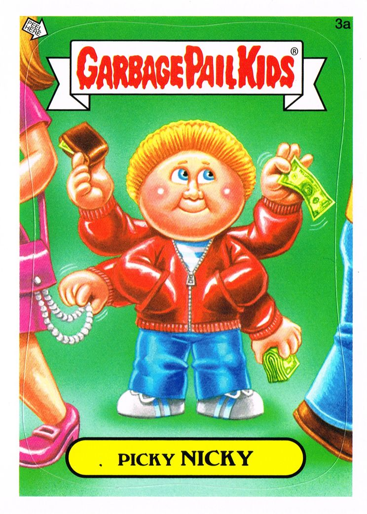Brent Engstrom S Blog Brand New Series Garbage Pail Kids Garbage Pail Kids Garbage Pail Kids Cards Kids Stickers