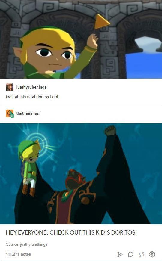 That S A Neat Doritos Tumblr Zelda Funny Legend Of Zelda Memes Zelda Memes