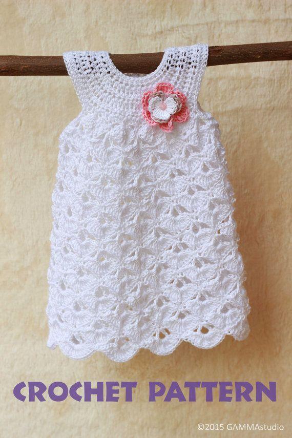 Bebé del ganchillo patrón patrón de vestido de niña por GAMMAkids ...