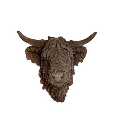 Abigail Ahern Edition Grey Highland Cow Head Debenhams Cow Head Abigail Ahern Scottish Decor