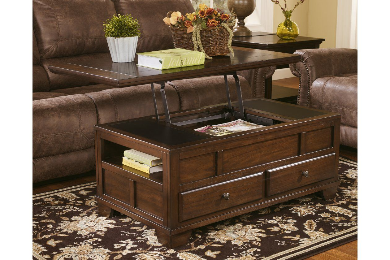 Gately Coffee Table With Lift Top Ashley Furniture Homestore Coffee Table Coffee Table Pictures Pallet Dining Table [ 840 x 1260 Pixel ]