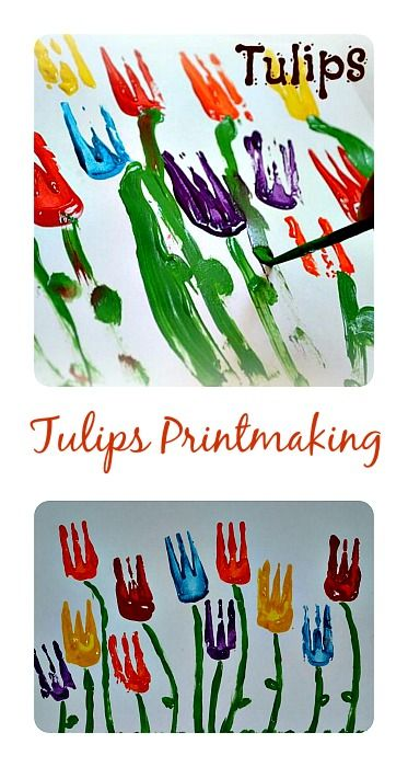 Tulips Spring Art For Kids All Ages Printmaking Toddlers Through Kinder Age