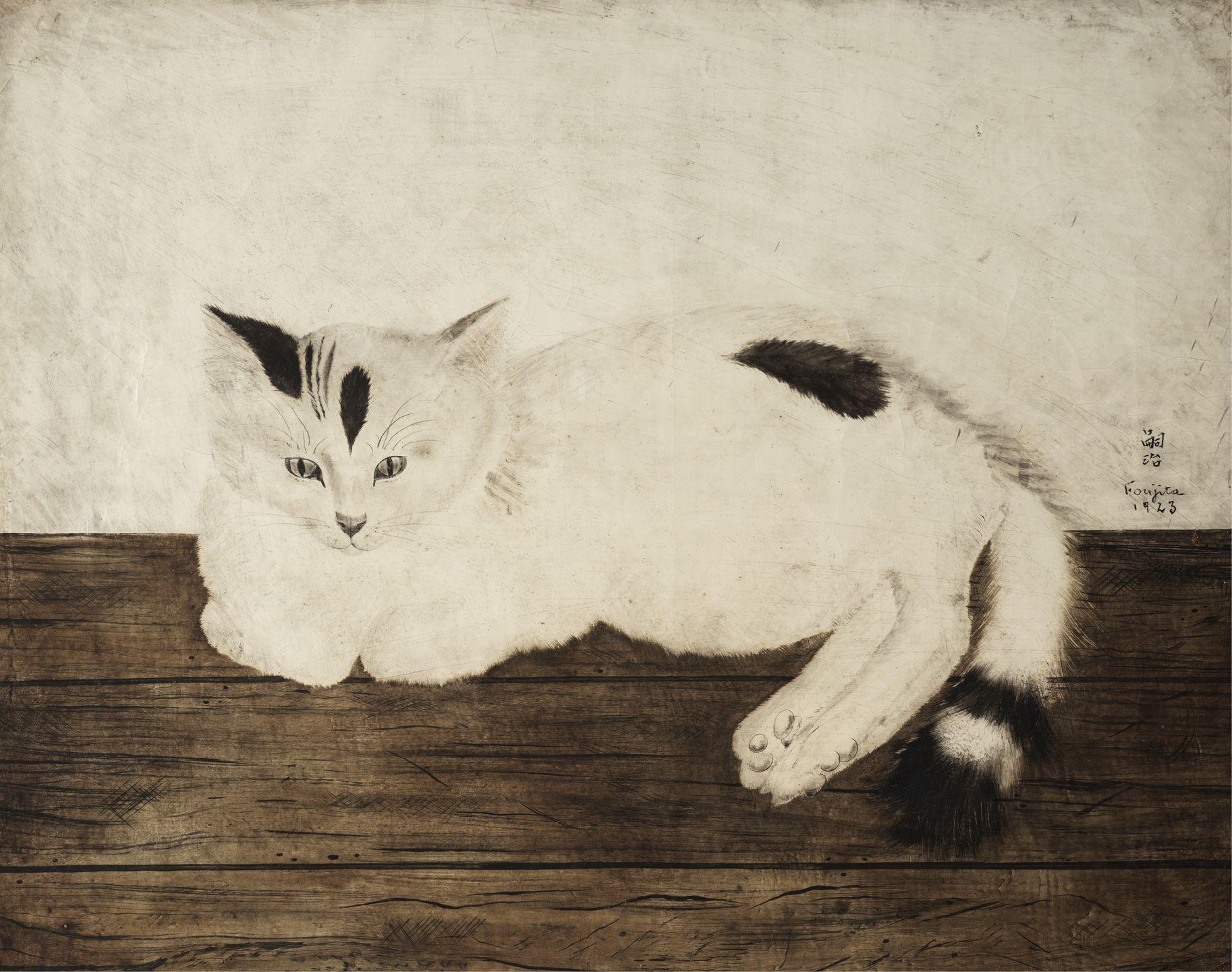 95 Leonard Tsuguharu Foujita 1886 1968 Chat Couche 1923 Huile Sur Toile Signee Art Impressionniste Et Modern En 2020 Art Impressionniste Art Huile Sur Toile
