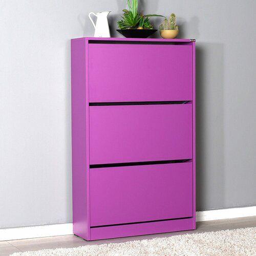 Burnie 20 Pair Flip Down Shoe Cabinet Rebrilliant Finish Purple Bench With Shoe Storage Wooden Shoe Storage Shoe Cabinet