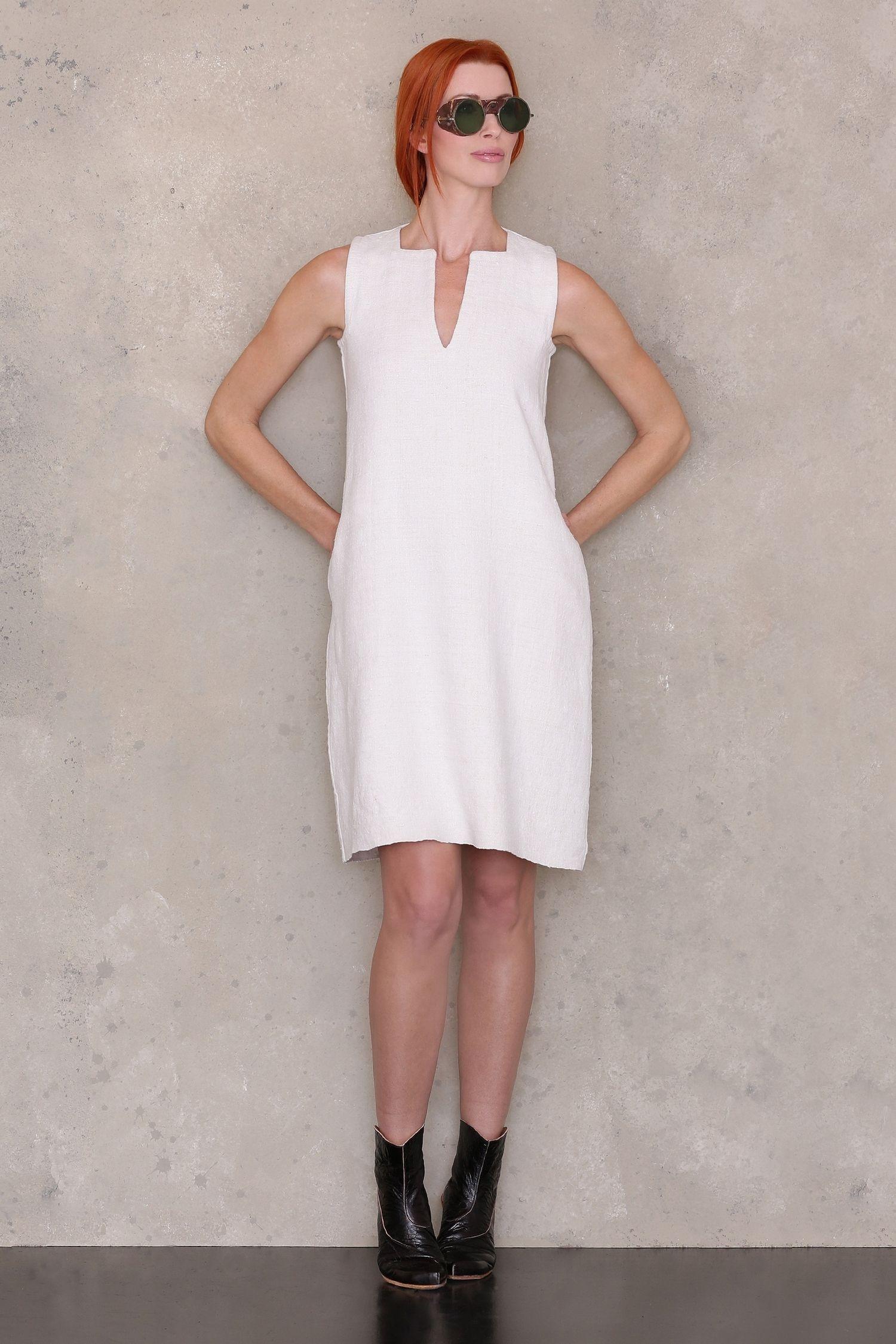 Sleeveless Shift Dress Shift dress pattern, Tunic dress
