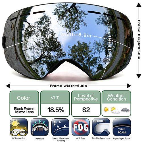 bc62a6866c7 best ski goggles  3. JULI Ski Goggles