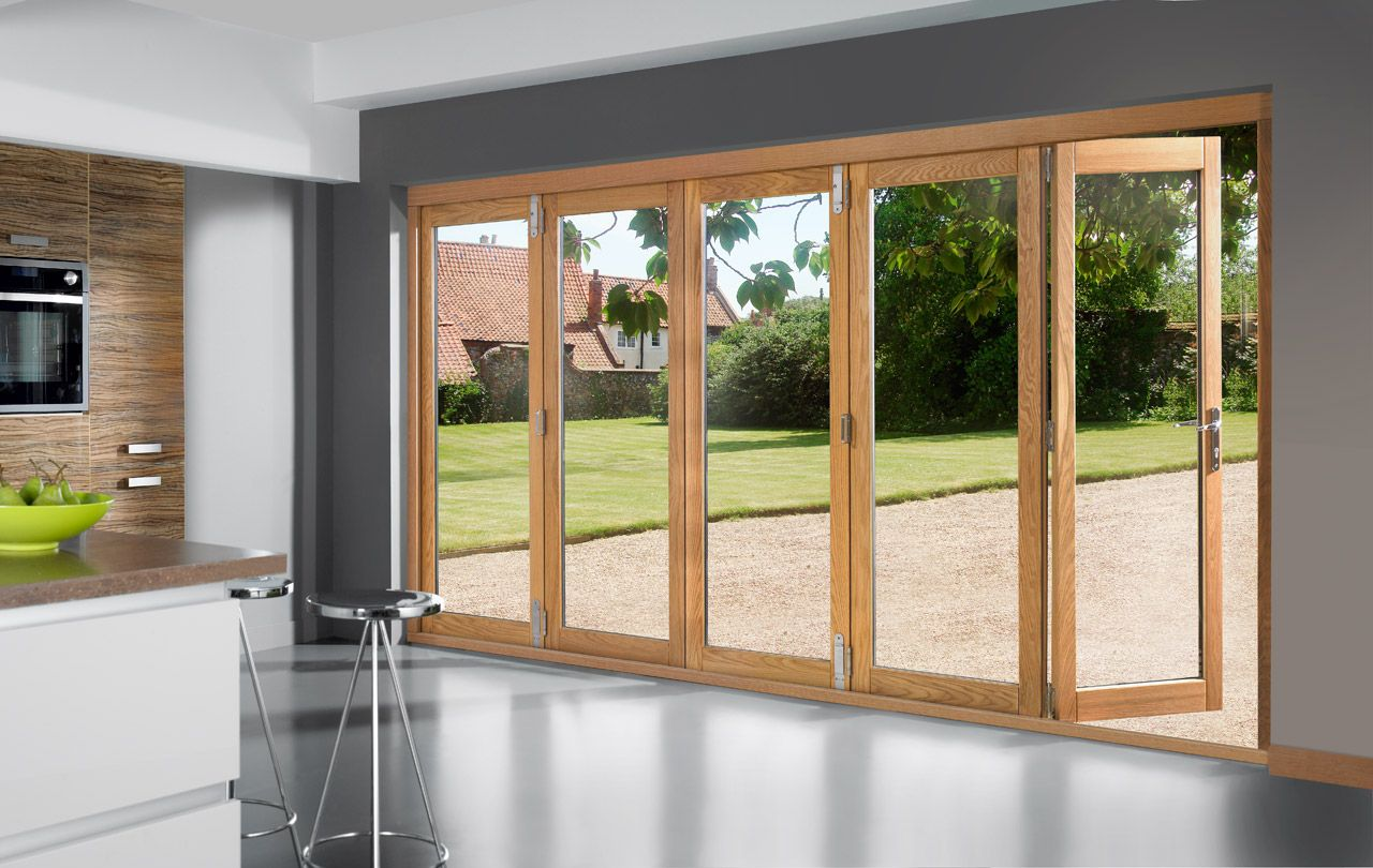 Bifold Patio Doors fold and open in its middle part. They have ...