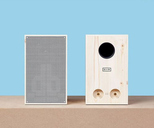 Sustainably harvested wooden speakers by neue werkstatt  simple wooden stereo system