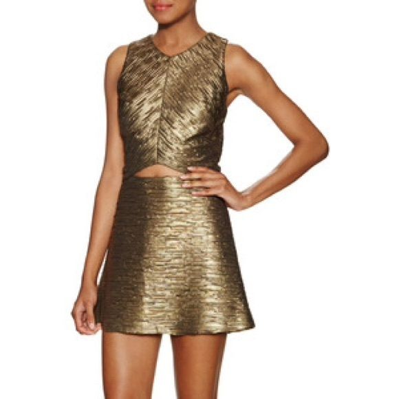 NWOT Ronny Kobo gold metallic top Beautiful gold textured fabric, back zip Ronny Kobo Tops
