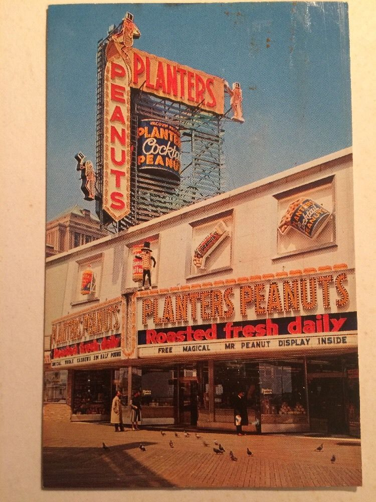 Atlantic City New Jersey Planters Peanut Store Boardwalk Candy Neon Chrome Card Ebay Atlantic City Planters Peanuts Boardwalk