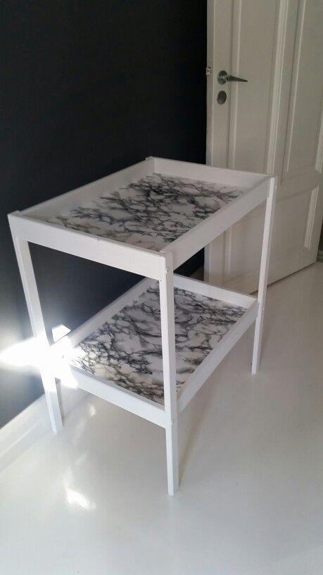 Bar Cart Idea Ikea Sniglar Changing Table Hack Painted