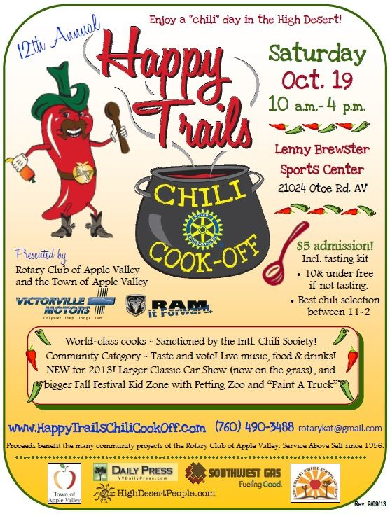 ICS Regional CookoffHappy Trails in California. Chili