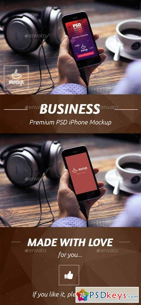 Business iPhone Mockup 10707915 | PSDkeys | Mobile mockup