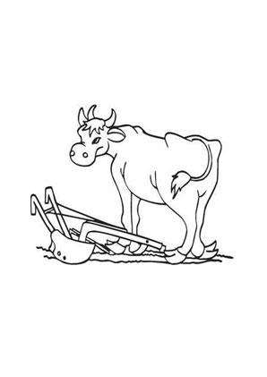 Ausmalbild Kuh Mit Pflug Ausmalbild Kuh Ausmalbilder Tiere Ausmalen
