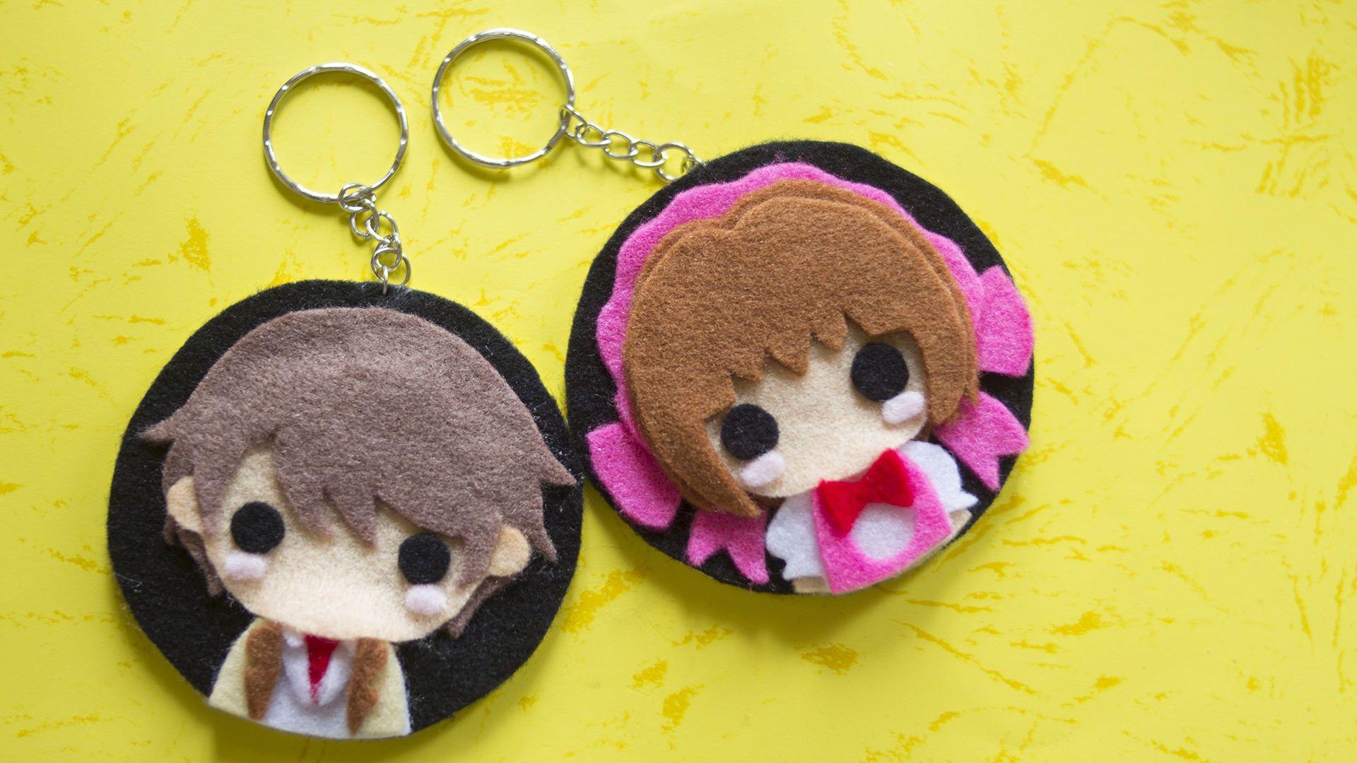 How to make diy anime keychain with felt no sew anime crafts