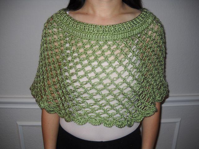 Ravelry: Knot Stitch Capelet pattern by Rachel Choi free crochet ...