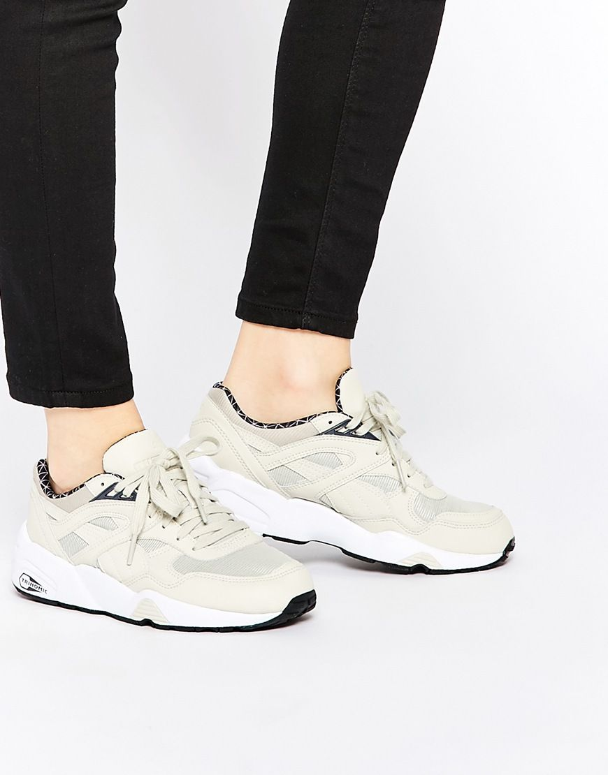 Puma R698 Trinomic PWRW Baskets reflective oat