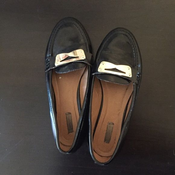 07c30b002c0 Black patent leather with gold accents. A little wear but still in good  condition. Urban Outfitters Shoes Flats   Loafers