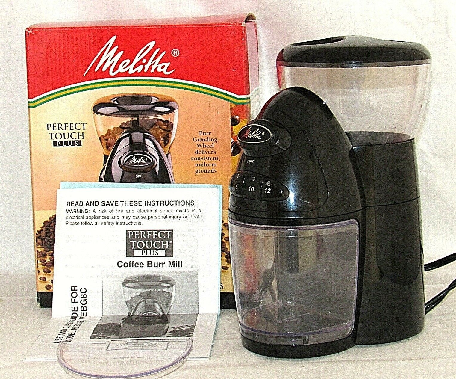 Perfect Touch Plus Melitta Programmable Coffee Mill Mebg8b Burr Grinder In 2020 Commercial Coffee Grinder Burr Coffee Grinder Best Coffee Grinder