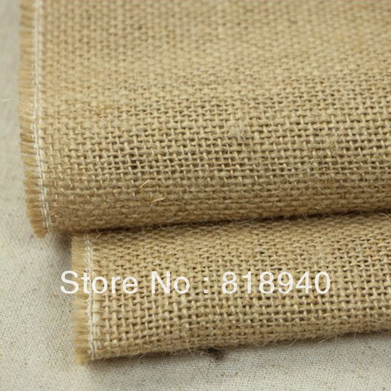 Natural Linen Flax Fabric Vintage for DIY Craft Painting Decoration Background