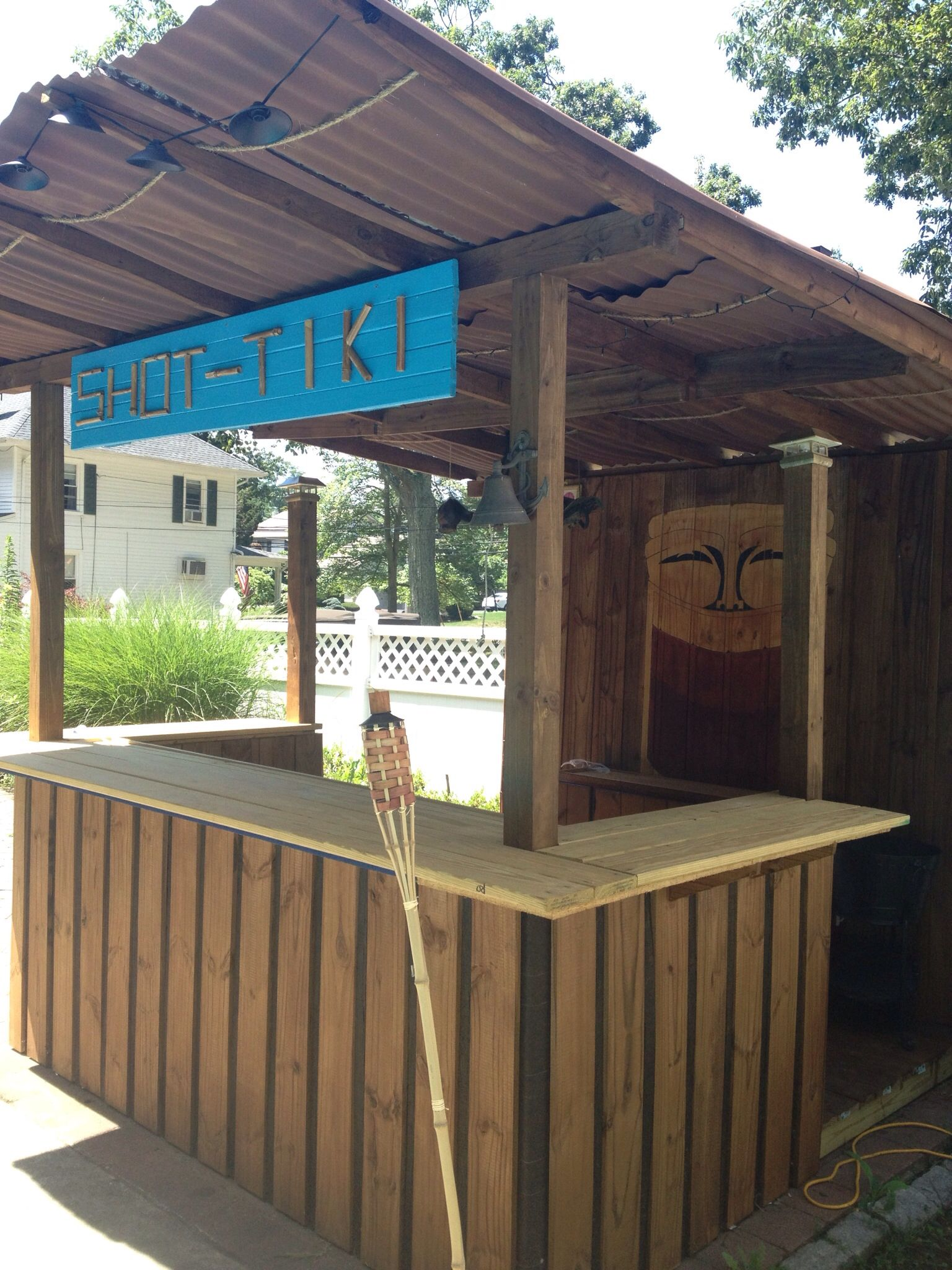 diy tiki bar my hubby built things i want in my backyard