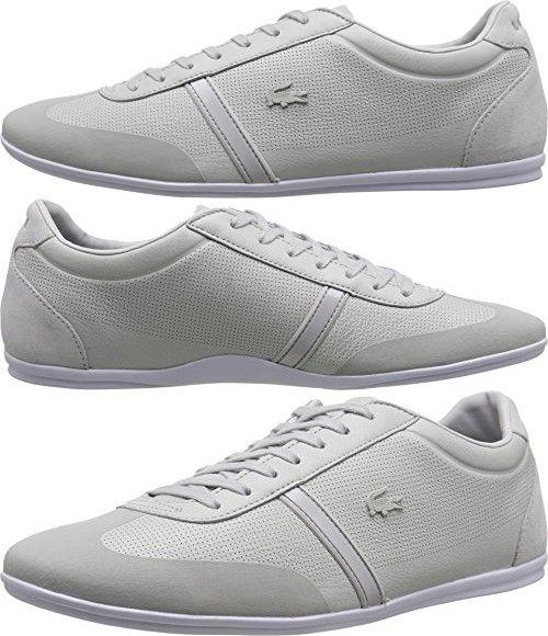 Lacoste Men S Mokara 216 1 Light Grey Sneaker 9 5 M Grey Sneakers Lacoste Men Sneakers