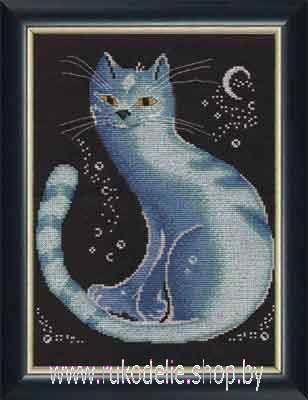 Вышивка лунный кот овен