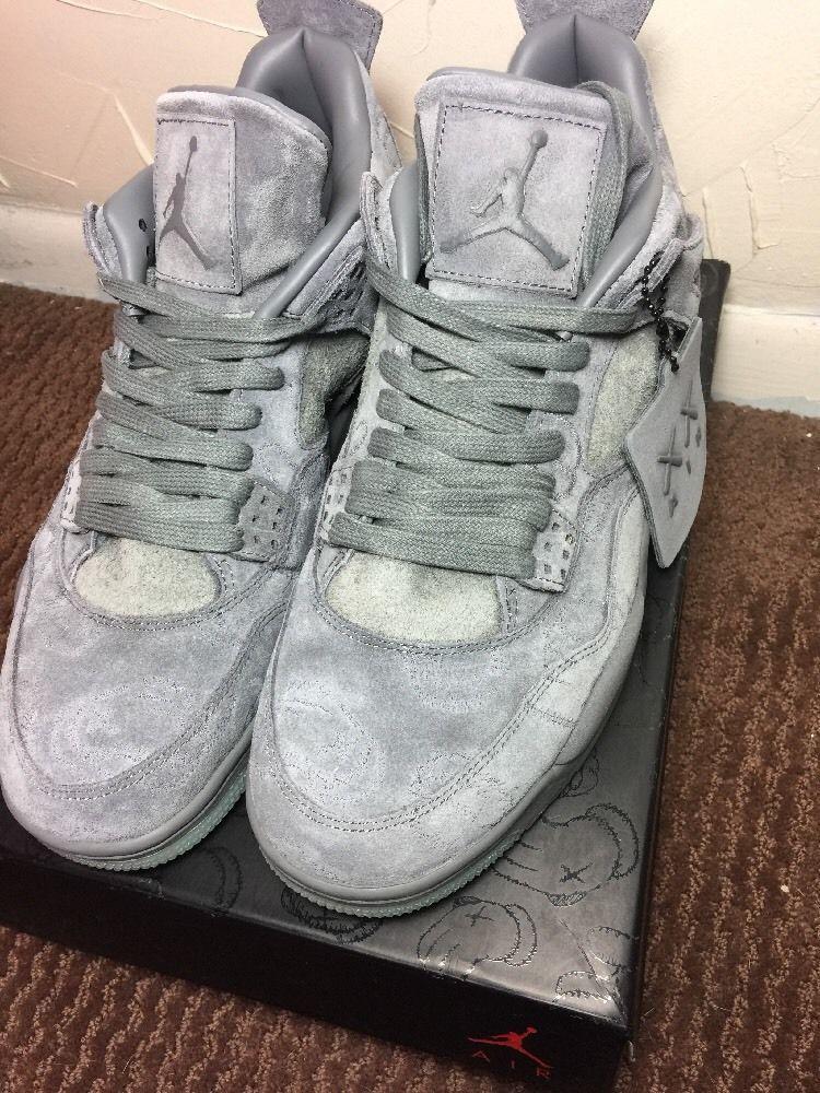f47ee3a8f5ca Jordan 4 IV Retro KAWS SZ 12 Cool Grey Suede Glow In Dark  Jordan   AthleticSneakers