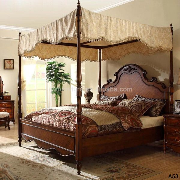 Beautiful Wood Bedroom Furniture Set Top Level Quality