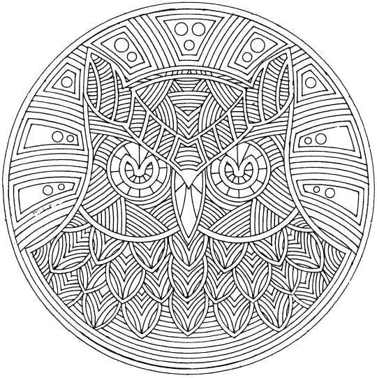 Owl Bird Mandala Coloring Pages