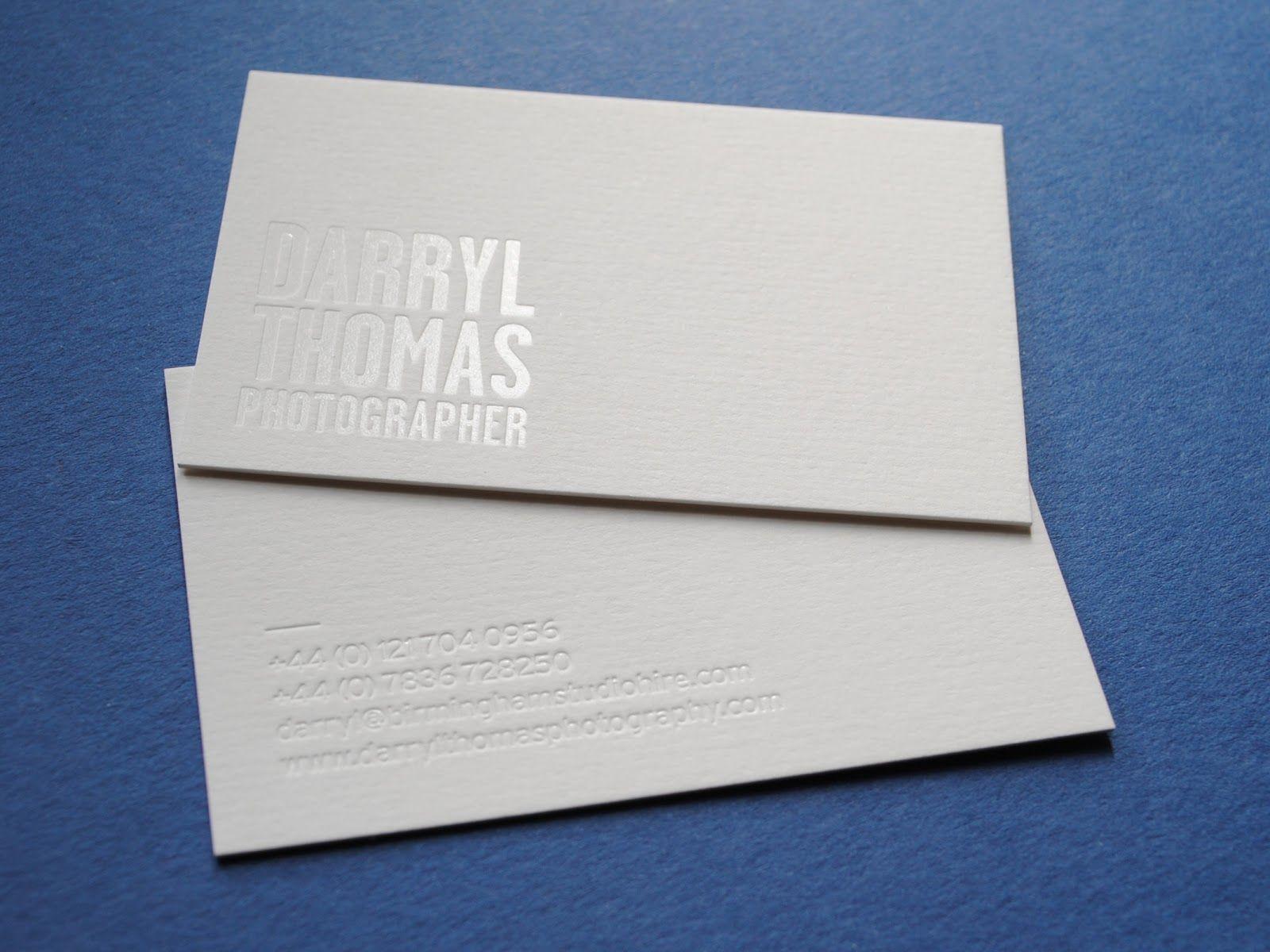 Inspiration White On White Foil Printing Visitenkarten Karten Idee