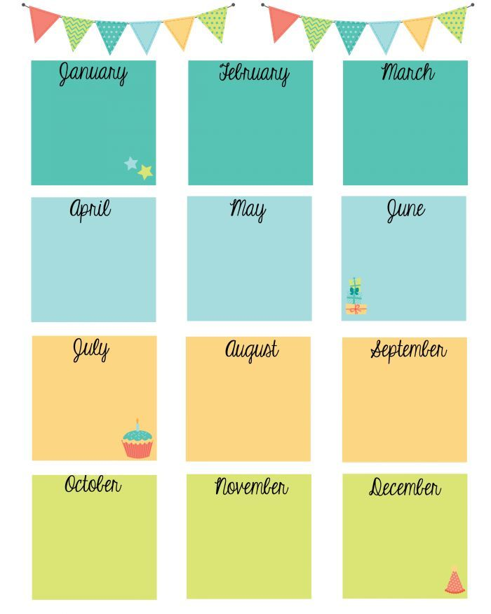 Never Forget a Birthday With This Free Birthday Calendar Printable - birthday calendar template