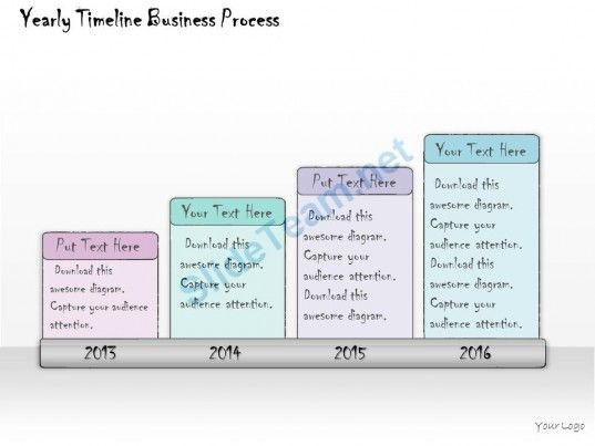 1013 Business Ppt Diagram Yearly Timeline Business Process