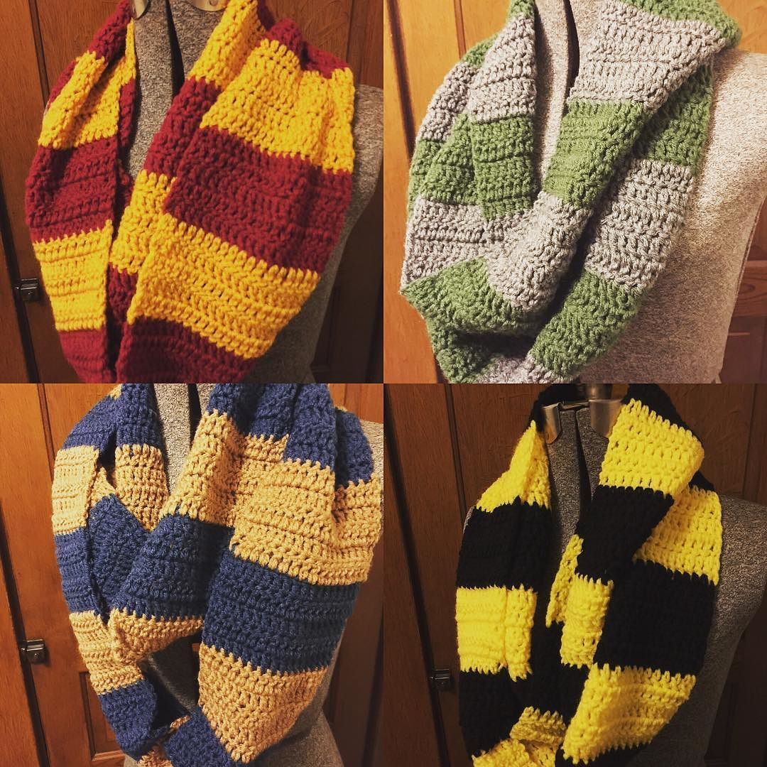 ohjadee Harry Potter scarves are all done!! #crafty #craftybitch ...