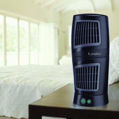 Lasko 4911 Twist Top Slim Compact 5 X 12 Portable Oscillating Tower Fan Black With Images Tower Fan Lasko Small Desk Fan