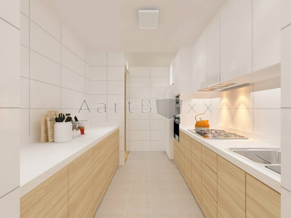 Colour ideas for kitchen space and cabinet combi.