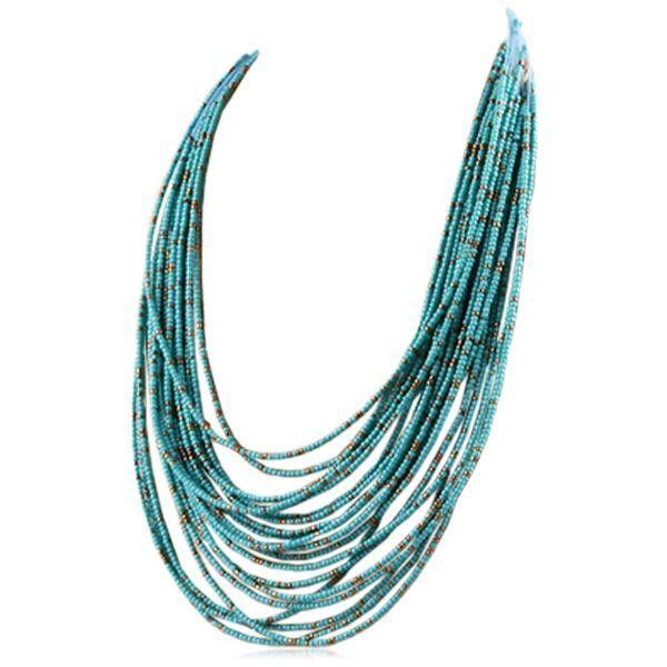 Lya - Bohemia Style 20 Layers Beaded Statement Collar Choker Necklace