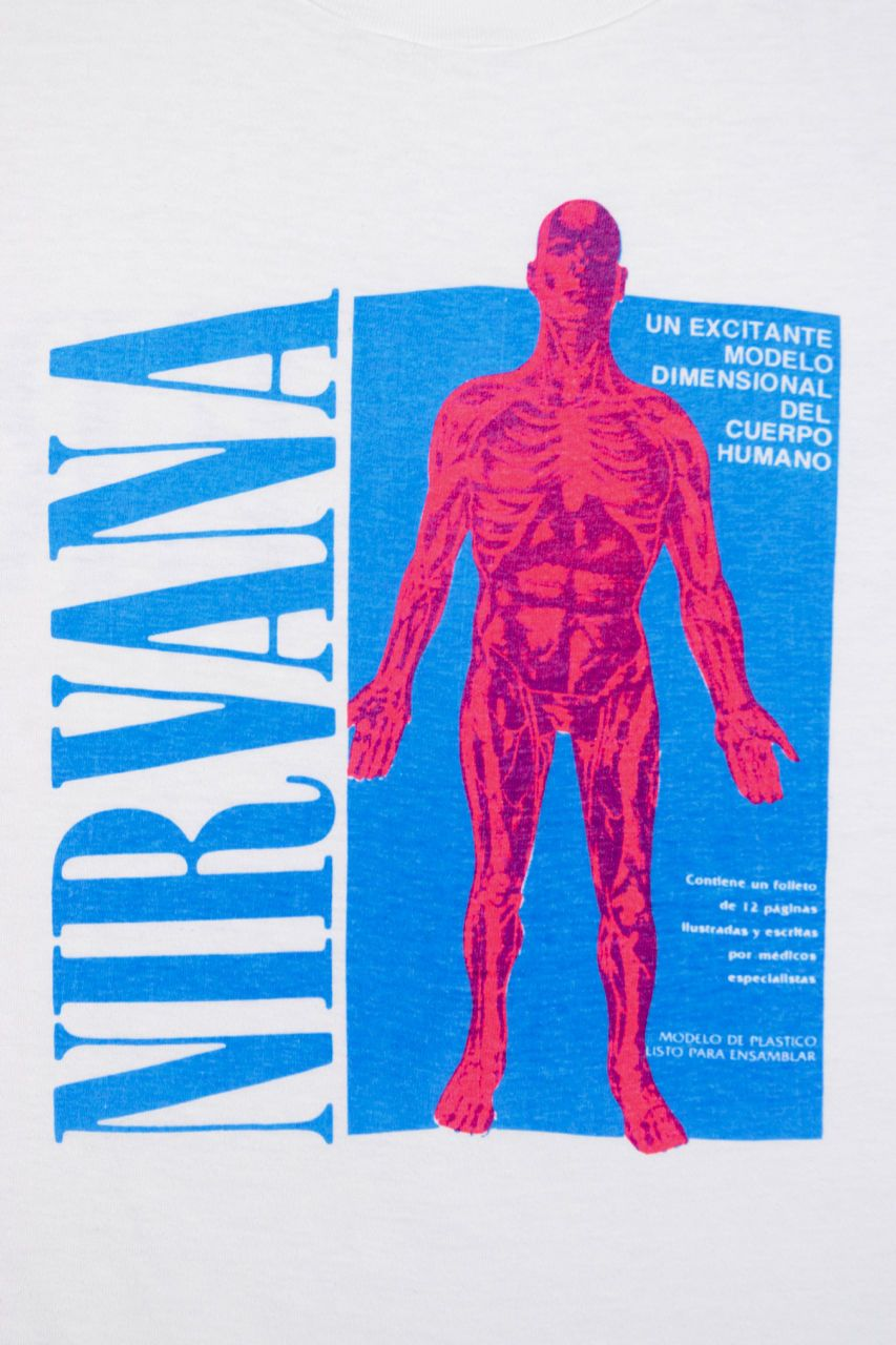31330568 Original 1990 NIRVANA SLIVER tee.this is the original sliver t-shirt design  released to promote the 1990 non lp Sub Pop single. 30