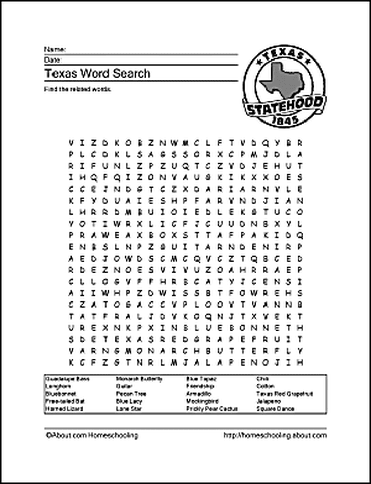 Learn About Texas with These Free Printables! | Texas History 7Th