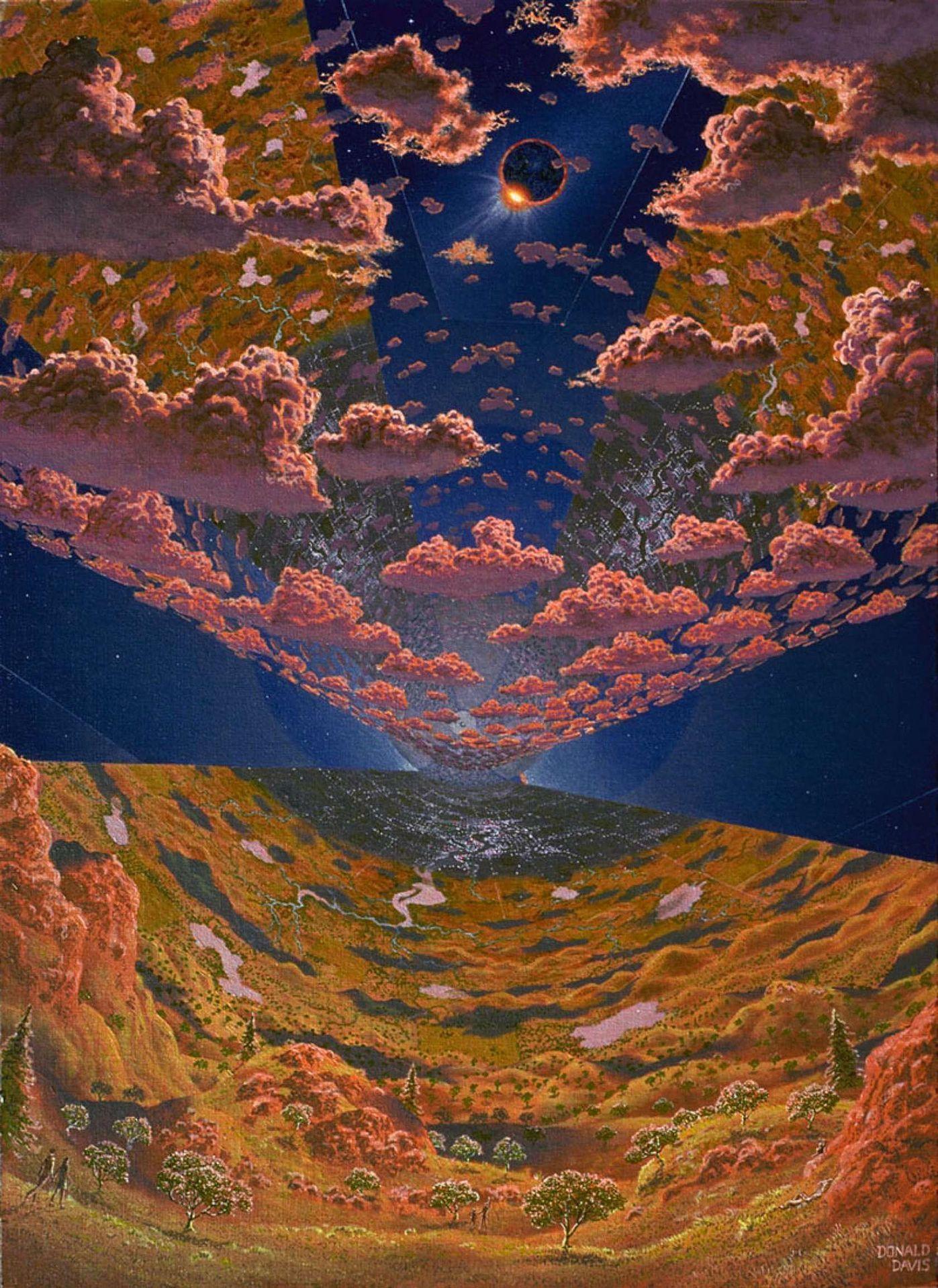 Les Villes De L Espace Wikipedia Art Spatial Fond D Ecran Science Fiction Art Science Fiction