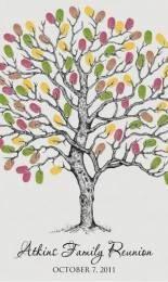 fingerprint art tree