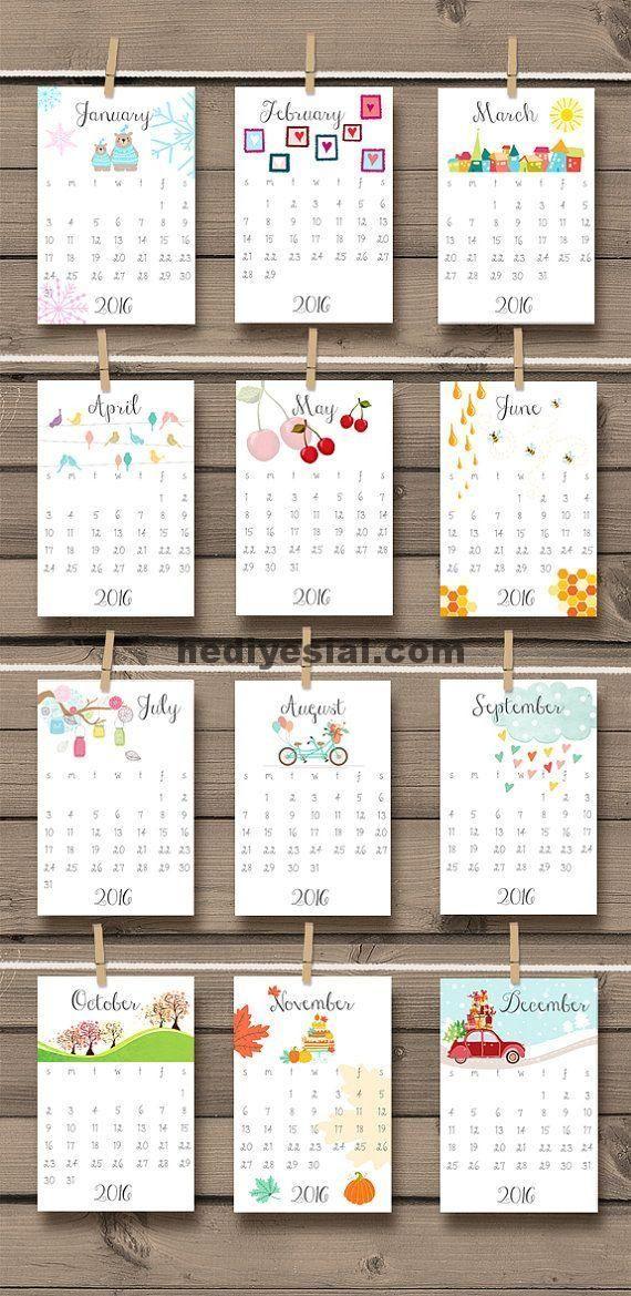 2016 Kalender Druckbare Doodle Wand Schreibtisch Kalender Doodle Druckbar 2016 Kalender Druckbare In 2020 Kalender Selber Basteln Kalenderideen Kalender Gestalten