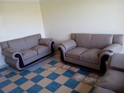 Genuine Leather And Mahogany Made Six Sitter Sofas Nairobi
