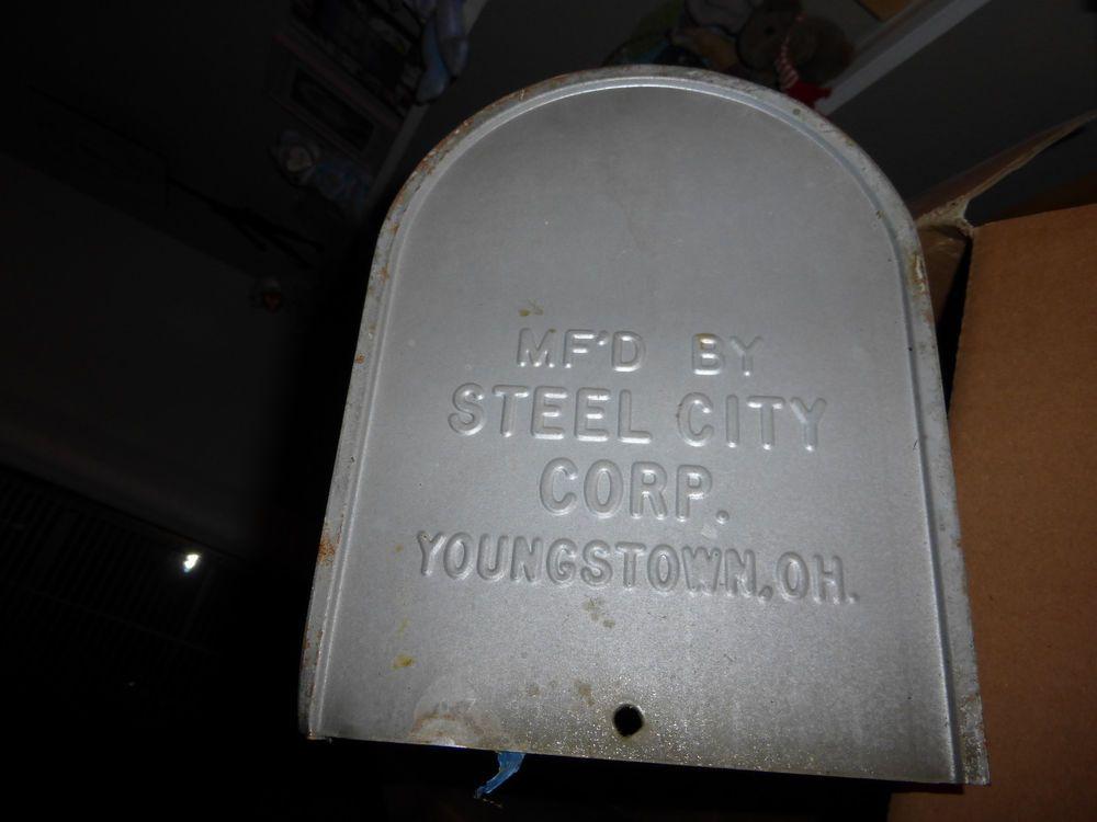 Vintage Mailbox Galvanized Steel 19 Youngstown Ohio Steelcity