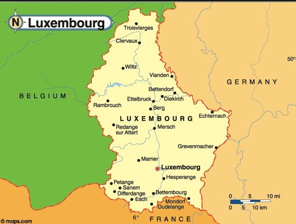 Map Of Luxembourg Independence 1839 From The Netherlands