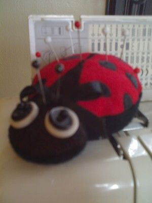 Ith Ladybug Pin Cushionee Embroidery Designs Cute Embroidery