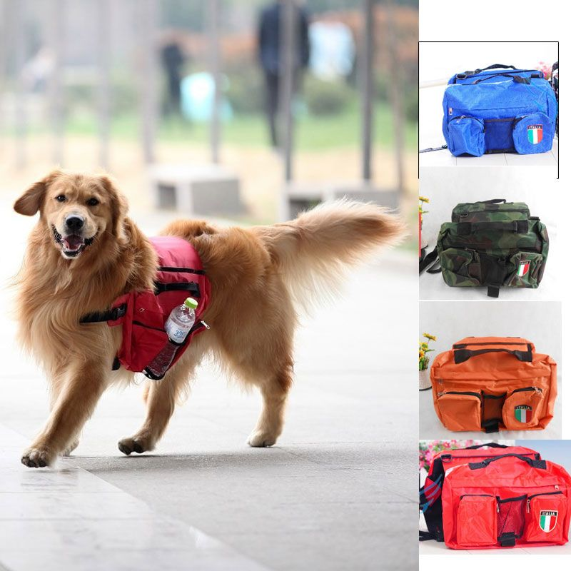 new Pets dog medium large dogs Backpack snack pack Big Dogs Bag for ...