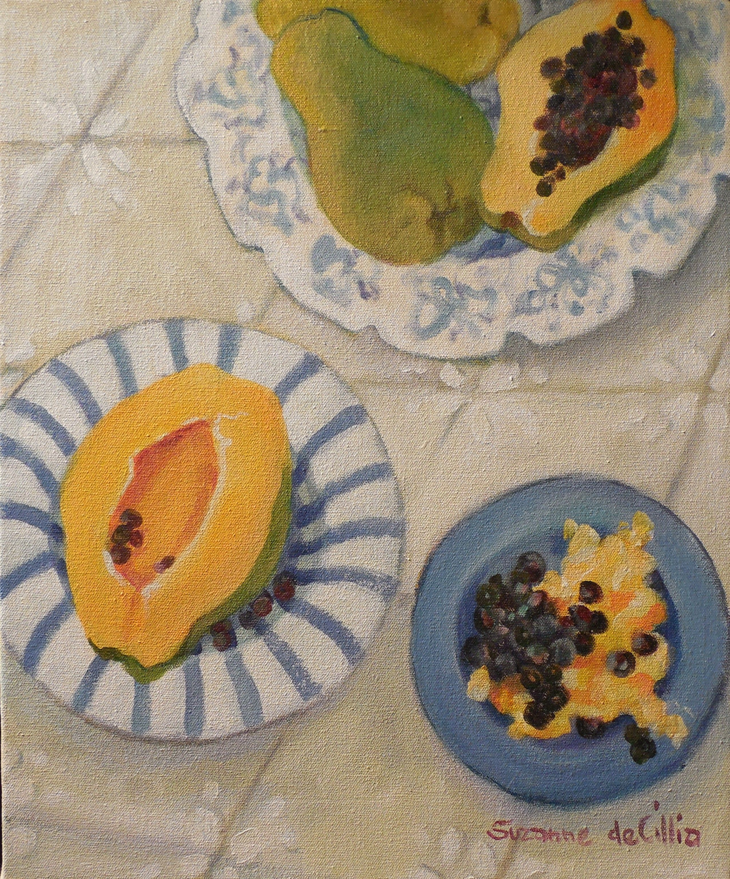 blue plate papayas  (available at the Village Gallery in Lahaina Maui)