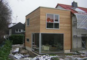 holzanbau energetische sanierung eines reihenhauses anbau pinterest cabane jardin. Black Bedroom Furniture Sets. Home Design Ideas